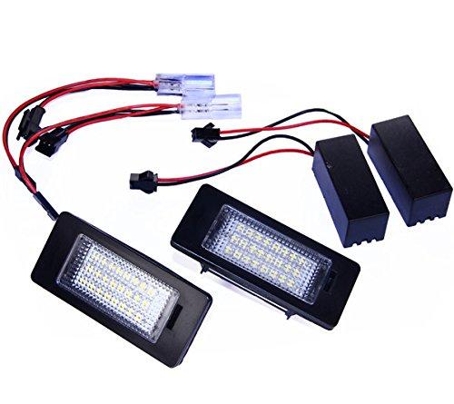 Handycop® Kennzeichenbeleuchtung für Seat Alhambra 2 / VW Golf 6 Variant / Golf Plus / Passat 3C B7 / Touran 2 / Touareg 2 / Jetta 2 / Sharan 2