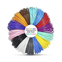 Victorstar @ 3D Pen Filament Refills 20 Colors 656 Linear Feet (200 Meters) / ABS 1.75mm 12 General Colors+2 Glow in Dark + 1 Wood Color + 5 Fluorescent / 32.8 Feet (10 Meters) Each Color