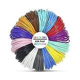Pluma 3D Filamento ABS - VICTORSTAR 20 Colores, 32.5 pies (10 metros) cada uno Impresión 3D de Pluma Filamento 1.75 mm Total de 650 pies (200 metros), 2 Brillando en la oscuridad y 5 Fluorescentes Colores Incluidos