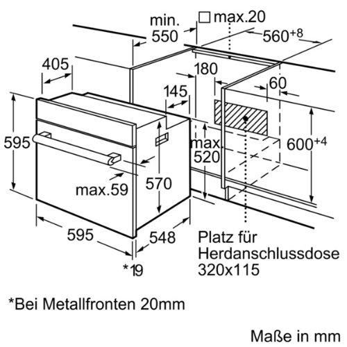 bosch hba33b150 serie 6 einbaubackofen a 66 l edelstahl 3d hei luft plus. Black Bedroom Furniture Sets. Home Design Ideas
