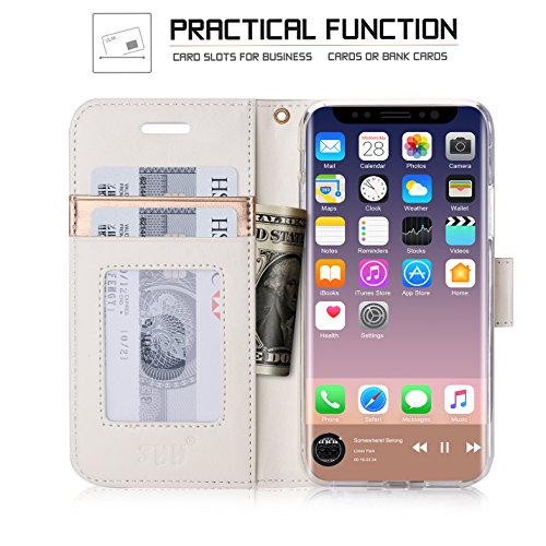 iPhone 8 case, iPhone 8 cover, Fyy Premium in vera pelle, 100% fatto a mano in foglio di [cavalletto funzione] con carta d identità e schermo per Apple iPhone 8 C-Pattern-27 C-Pattern-36
