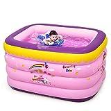 Badewannen mit Belüftung Aufblasbares Bad für Kinder Baby-Mädchen-Rosa-Pool Baby Familie Schwimmen Eimer Baby Ball Pool