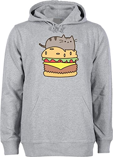 facebook-pusheen-cat-on-a-burger-unisex-hoodie-sweatshirt-small