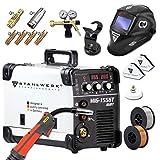 STAHLWERK MIG 155 ST IGBT- Vollaustattung - MIG MAG Schutzgas Schweißgerät mit 155 Ampere, FLUX Fülldraht geeignet, mit MMA E-Hand, weiß, 5 Jahre Garantie