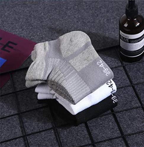 YQPWZ Socken 4 Satz Sport Handtuch Thick Basketball-Socken-Knöchel Terry Winter-Fest Farbe Männer Large Size Cotton Short Socken Warm,Ein,39-42 -