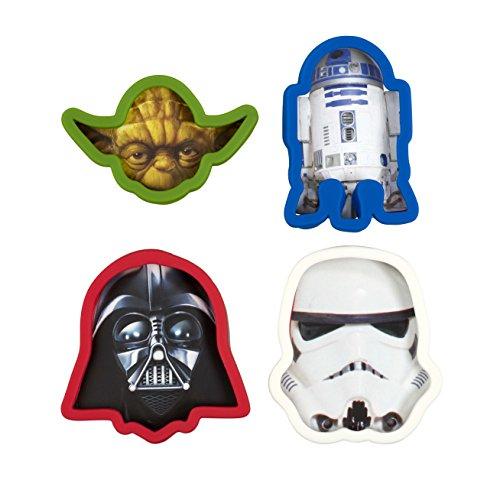 Underground Toys Moldes para Galletas Star Wars, Aluminio, Blanco, Rojo y Azul, 4x1.5x6 cm, 4 Unidades