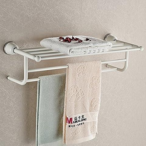 YSMJHL® Estilo europeo toalla toallero estante antiguo jardín parrilla metal blanco-baño accesorios baño repisas