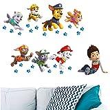 Unbekannt 28 TLG. Set _ Wandtattoo / Sticker -  Paw Patrol - Hunde  - Wandsticker - Aufkleber für Kinderzimmer - selbstklebend + wiederverwendbar + wasserfest - Kinde..