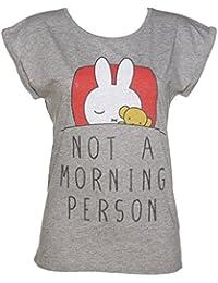 Miffy Not a Morning Person Damen Tunic TShirt mit gerollten rmeln