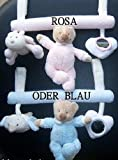 Nattou Baby Spielzeug Kinderwagenkette Wagenkette Babyschale Mobile Kinderwagen Trapez (Rosa)