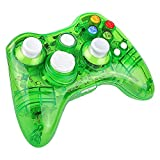 Prous Xbox 360 Controller XW21 Wireless PC Gamepad LED Controller Transparent Joystick für Xbox 360/PC - Grün (Drittanbieter Produkt)