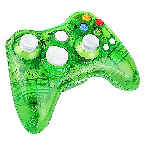 Prous Xbox 360 Controller XW21 Wireless PC Gamepad LED Controller Transparent Joystick für Xbox 360/PC - Grün (Drittanbieter Produkt)