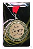 Edle Medaille/Auszeichnung mit Lasergravurschild und rotem Umhängeband