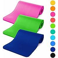 Esterilla para fitness »Amisha« / EXTRA gruesa y suave, perfecta para pilates, gimnasia y yoga / Medidas: 183 x 61 x 1,2cm / amarillo