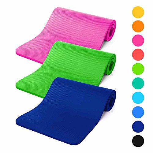 #DoYourFitness® Gymnastikmatte 183x61x1,2cm | inkl. Tragegurt - weiche Oberfläche - Fitnessmatte für Yoga, Pilates & Sport / »Amisha« dunkelblau