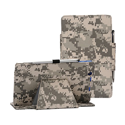 i-UniK Nextbook Ares 8A Compatible Model #NX16A8116 K/R/B/S Android 6 0  Tablet Cover CASE [Bonus Stylus] (ACU Digital Camo)
