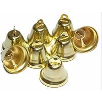 Kleenes Traumhandel 50 campanillas de decoración- 30 x 20 mm - color oro