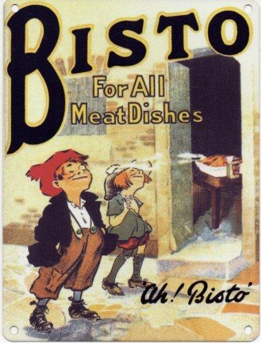 Bisto–Für alle Fleischgerichte–Mini Metall Wand Zeichen durch Schilder 2alle LTD