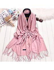 La primavera y el otoño coreano Bufanda Negra hembra Cashmere imitación Arte All-Match largo verano Aire acondicionado habitación caliente chal Longitud: 200cm,Día en polvo