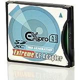 Ex-Pro Adaptateur carte SD, SDHC, SDXC, MMC cartes à Compact Flash Type II