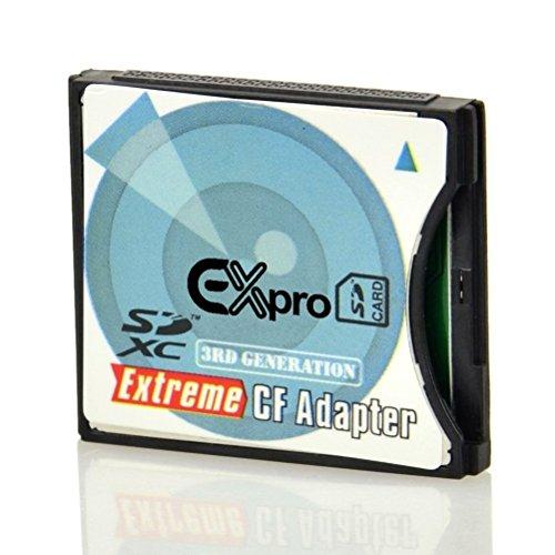 Ex-Pro Hochgeschwindigkeits-Adapter für SD, SDHC, SDXC, MMC Karte auf Compact Flash Typ II (3. Generation) -