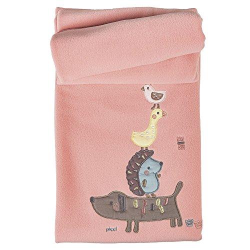 Picci Decke für Kinderbett Fleece Kollektion Ringo Pink pc64r1231
