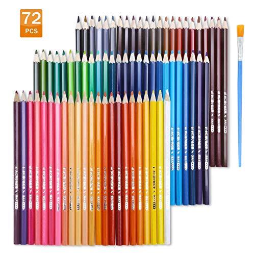 EBES  Lápiz de Color 72 Colores Soluble en agua Regalo Ideal para Artistas,...