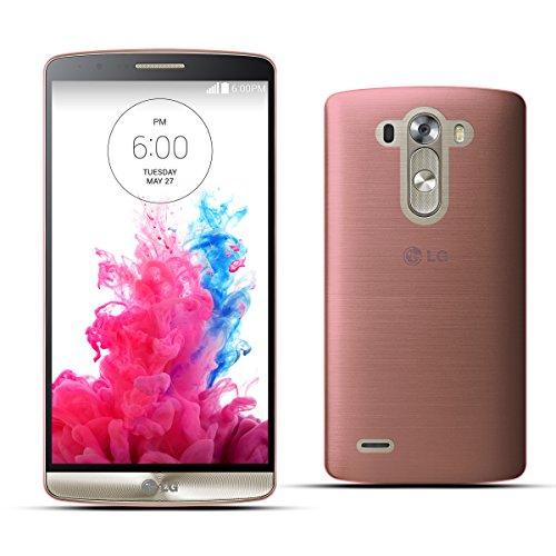 Moozy Dünnste in der Welt Ultra dünne Super Slim Premium Silikon Handy Hülle / Schutzhülle für LG D855 G3 Transparent Korallenrosa