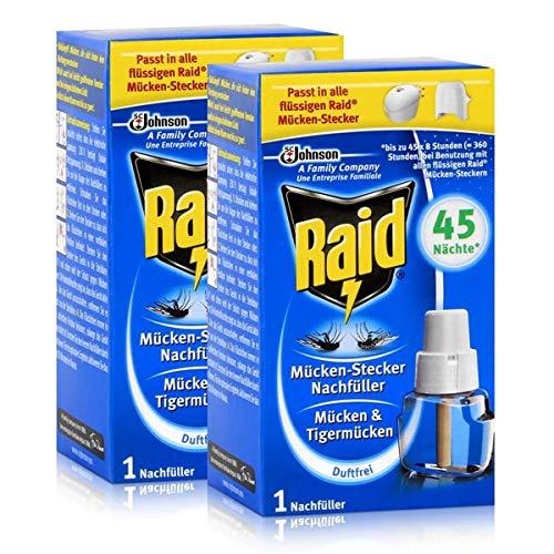 2x Raid Mücken Stecker Nachfüller für ca. 45 Nächte Mückenfrei