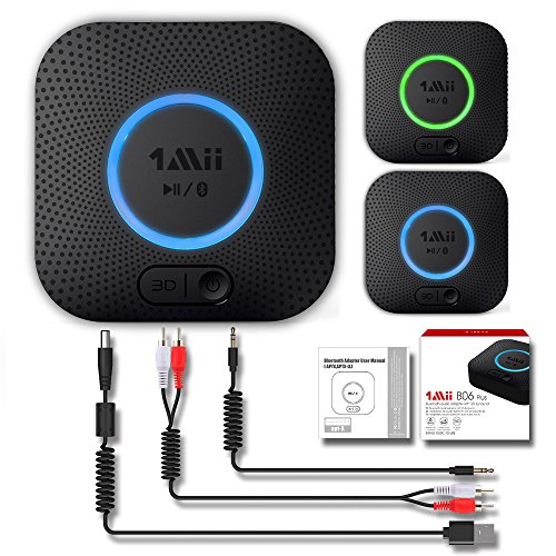 Receptor Bluetooth, Adaptador de Audio Inalámbrico Hi-Fi, 1Mii Adaptador Bluetooth 4.2 con...