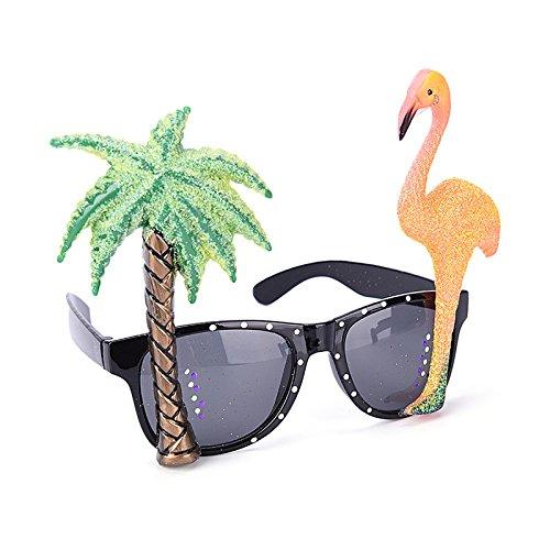 Welecom-Flamingo-gafas-para-el-sol-2-piezas-Collar-Hawaiano-collares-guirnaldas-de-flores-para-disfraz-de-hawaiana-fiesta-especificaciones-accesorio