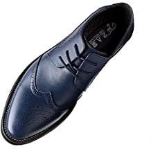 cdc30a671bc Yirenhuang Hommes Élégant Bout Pointu Cuir Chaussures Habillées Affaire Mariage  Chaussures Brogue