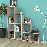 Lingjiushopping Bücherregal mit Leiter/Regal 142cm Farbe Eiche Farbe: Eiche Material: Spanplatten Melamin