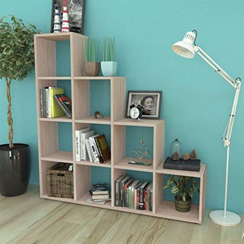 luckyfu modernes Design Möbel Regal Bücherregal & Stehen Regale mit Farbe: Eiche Lange Schreibtisch oder Treppe Bücherregal/Display Regal 142cm Eiche (Bücherregal Display-regal)