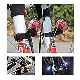 Wie Bremsschuhe AI 6LED Fahrrad Licht, die Fahrrad Wasserdicht USB Wiederaufladbar (Rot) Lampe Radfahren Taschenlampe Beleuchtung Sets 2