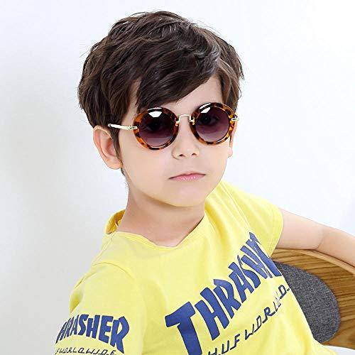 CYCY Kinder Brille Jungen 1-3 Jahre alt Jungen Mädchen polarisierte Sonnenbrille Flut Mädchen Sonnenbrille Sonne 1# grünen Rahmen grünen Tabletten @ 12# Leopardenmuster