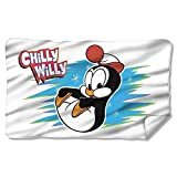 CHILLY WILLY CHILLY-FLEECE BLANKET-WHITE-ONE SIZE 30 x 60 Polyester by Trevco