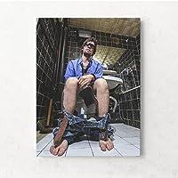 MINRAN DECOR A Druck Poster Kunstdruck – Toilettenmalerei CP137 – Modern Art Canvas Print - Canvas Print Stretched on a Frame als Moderne Wanddekoration, B, 50 * 60CM