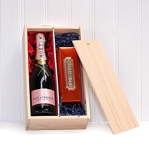Moët Rose Champagner 750ml Mit Bond Street Schokolade - Ein Luxus Geschenk Für Die Frau, Freundin, Zum Geburtstag, Als Danke Schön