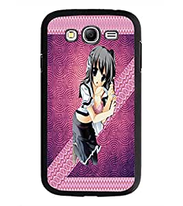 PrintDhaba Cute Girl D-3560 Back Case Cover for SAMSUNG GALAXY GRAND I9082 (Multi-Coloured)