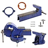 Best Bench Vises - Rayinblue Heavy Duty Bench Vice, Jaw Bench Vice Review