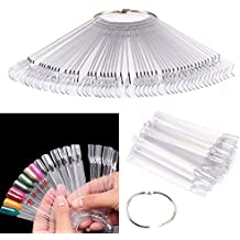 PIXNOR 50 pz Nail Art Tips colore bastoni Pop Display Fan pratica Starter anello chiaro fai da te