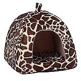 ZHANGQIAN Abnehmbare Weiche Kissen Bett Für Kleine Katze Hundehöhle Bett Big Shake Pet Betten Wasserdichte Unterseite,1,L