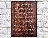 Wandbild mit Gedicht, für Herren, Geschenk für Freundin, Theodore, Roosevelt Man In The Arena, Ehemann, Geschenk für Sie, 20,3 x 29,5 cm