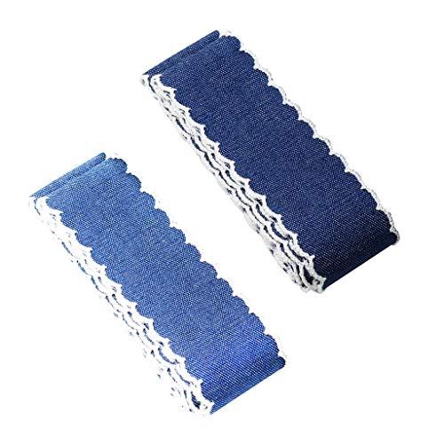 B Baosity 2 Stü Groß 4 Yards Handwerk Laced Denim Tuch Jeans Band Nähen Trim Verschönerung Für Hochzeit Handwerk Breite 40mm -