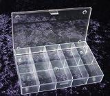 816566-62 - Caja con 10 compartimentos (10 unidades, tapa abatible, apilable), transparente
