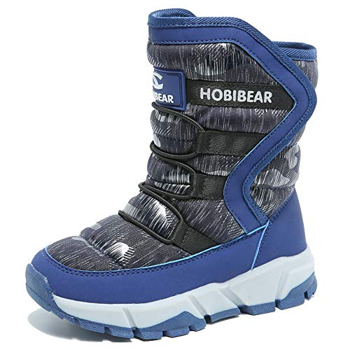 KAMIXIN Niños Botas de Nieve Impermeable Niña Botas de Invierno Zapatos Calientes Zapatos de Nieve...