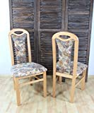 moebel direkt online Stuhl'Alberta' Massivholz 2er-Set buche natur - beige gemustert