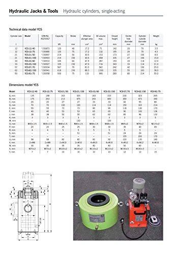 Yale Ycs 93/75, cavo cilindro, 93.0t, 75mm di corsa