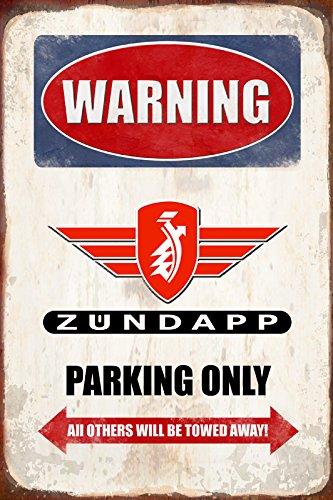 Warning Zündapp parking only blechschild